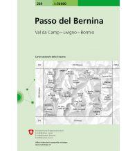Wanderkarten Schweiz & FL Landeskarte der Schweiz 269, Passo del Bernina 1:50.000 Bundesamt für Landestopographie