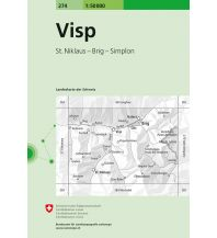 Wanderkarten Schweiz & FL Landeskarte der Schweiz 274, Visp 1:50.000 Bundesamt für Landestopographie