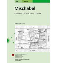 Wanderkarten Schweiz & FL Landeskarte der Schweiz 284, Mischabel 1:50.000 Bundesamt für Landestopographie