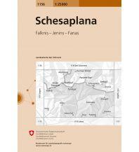 Wanderkarten Vorarlberg Landeskarte der Schweiz 1156, Schesaplana 1:25.000 Bundesamt für Landestopographie