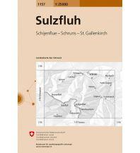 Wanderkarten Vorarlberg Landeskarte der Schweiz 1157, Sulzfluh 1:25.000 Bundesamt für Landestopographie