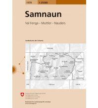 Wanderkarten Tirol Landeskarte der Schweiz 1179, Samnaun 1:25.000 Bundesamt für Landestopographie