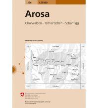 Wanderkarten Schweiz & FL Landeskarte der Schweiz 1196, Arosa 1:25.000 Bundesamt für Landestopographie
