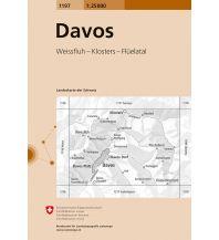 Wanderkarten Schweiz & FL Landeskarte der Schweiz 1197, Davos 1:25.000 Bundesamt für Landestopographie