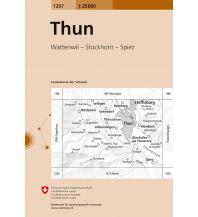 Wanderkarten Schweiz & FL Landeskarte der Schweiz 1207, Thun 1:25.000 Bundesamt für Landestopographie