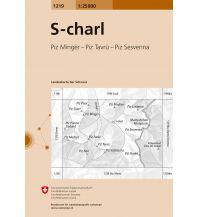 Wanderkarten Südtirol & Dolomiten Landeskarte der Schweiz 1219, S-charl 1:25.000 Bundesamt für Landestopographie