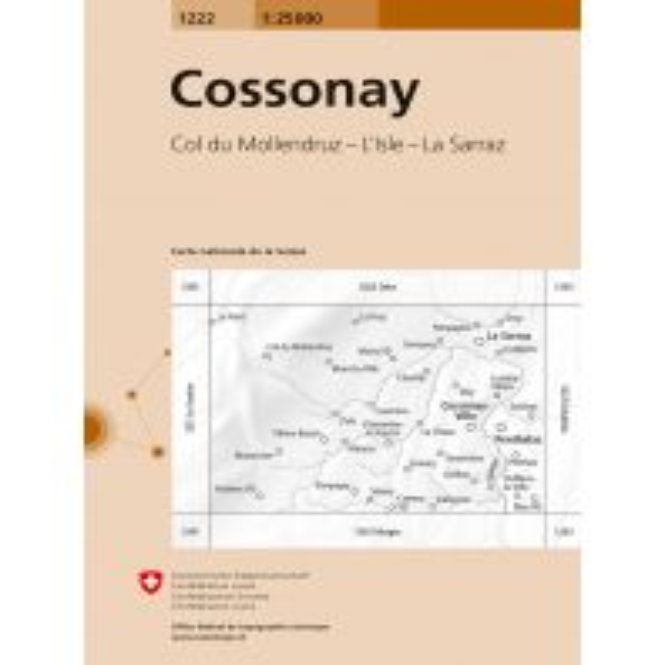 1222 Cossonay Bundesamt für Landestopographie