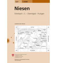 Wanderkarten Schweiz & FL Landeskarte der Schweiz 1227, Niesen 1:25.000 Bundesamt für Landestopographie