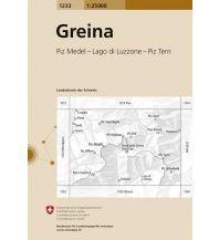Wanderkarten Schweiz & FL Landeskarte der Schweiz 1233, Greina 1:25.000 Bundesamt für Landestopographie
