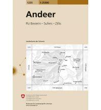 Wanderkarten Schweiz & FL Landeskarte der Schweiz 1235, Andeer 1:25.000 Bundesamt für Landestopographie