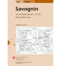 Wanderkarten Schweiz & FL Landeskarte der Schweiz 1236, Savognin 1:25.000 Bundesamt für Landestopographie
