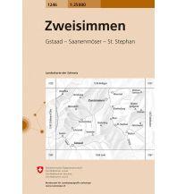 Wanderkarten Schweiz & FL Landeskarte der Schweiz 1246, Zweisimmen 1:25.000 Bundesamt für Landestopographie