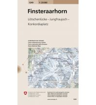 Wanderkarten Schweiz & FL Landeskarte der Schweiz 1249, Finsteraarhorn 1:25.000 Bundesamt für Landestopographie