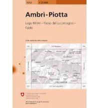 Wanderkarten Schweiz & FL Landeskarte der Schweiz 1252, Ambrì, Piotta 1:25.000 Bundesamt für Landestopographie