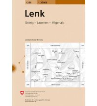 Wanderkarten Schweiz & FL Landeskarte der Schweiz 1266, Lenk 1:25.000 Bundesamt für Landestopographie