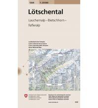 Wanderkarten Landeskarte der Schweiz 1268, Lötschental 1:25.000 Bundesamt für Landestopographie