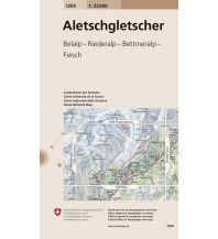 Wanderkarten Schweiz & FL Landeskarte der Schweiz 1269, Aletschgletscher 1:25.000 Bundesamt für Landestopographie