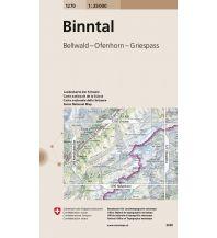 Wanderkarten Schweiz & FL Landeskarte der Schweiz 1270, Binntal 1:25.000 Bundesamt für Landestopographie