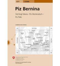 Wanderkarten Schweiz & FL Landeskarte der Schweiz 1277, Piz Bernina 1:25.000 Bundesamt für Landestopographie