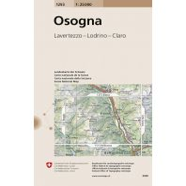 Wanderkarten Schweiz & FL Landeskarte der Schweiz 1293, Osogna 1:25.000 Bundesamt für Landestopographie
