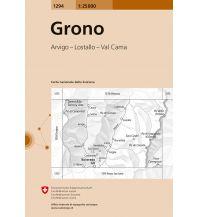 Wanderkarten Schweiz & FL Landeskarte der Schweiz 1294, Grono 1:25.000 Bundesamt für Landestopographie