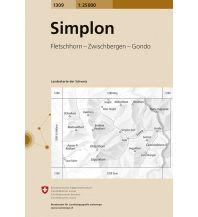 Wanderkarten Schweiz & FL Landeskarte der Schweiz 1309, Simplon 1:25.000 Bundesamt für Landestopographie