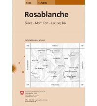 Wanderkarten Schweiz & FL Landeskarte der Schweiz 1326, Rosablanche 1:25.000 Bundesamt für Landestopographie