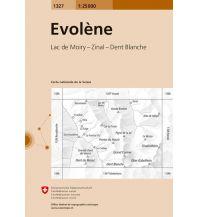 Wanderkarten Schweiz & FL Landeskarte der Schweiz 1327, Evolène 1:25.000 Bundesamt für Landestopographie