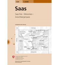 Wanderkarten Schweiz & FL Landeskarte der Schweiz 1329, Saas 1:25.000 Bundesamt für Landestopographie