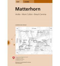 Wanderkarten Schweiz & FL Landeskarte der Schweiz 1347, Matterhorn/Monte Cervino 1:25.000 Bundesamt für Landestopographie