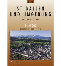 Wanderkarten Nordostschweiz Landeskarte der Schweiz 2503, St. Gallen und Umgebung 1:25.000 Bundesamt für Landestopographie