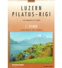 Wanderkarten Schweiz & FL Landeskarte der Schweiz 2510, Luzern, Pilatus, Rigi 1:25.000 Bundesamt für Landestopographie