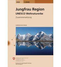 Wanderkarten Schweiz & FL Landeskarte der Schweiz 2520, Jungfrau Region 1:25.000 Bundesamt für Landestopographie