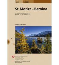 Wanderkarten Schweiz & FL Landeskarte der Schweiz 2521, St. Moritz, Bernina 1:25.000 Bundesamt für Landestopographie