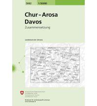 Wanderkarten Schweiz & FL Landeskarte der Schweiz 5002, Chur, Arosa, Davos 1:50.000 Bundesamt für Landestopographie