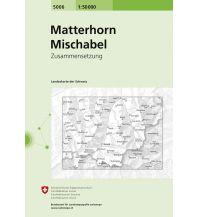 Wanderkarten Schweiz & FL Landeskarte der Schweiz 5006, Matterhorn, Mischabel 1:50.000 Bundesamt für Landestopographie