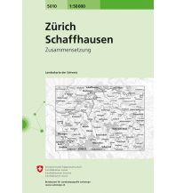Wanderkarten Schweiz & FL SLK 50 Bl.5010 Schweiz - Zürich - Schaffhausen 1:50.000 Bundesamt für Landestopographie