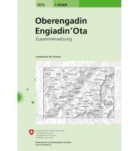 Wanderkarten Schweiz & FL Landeskarte der Schweiz 5013, Oberengadin/Engiadin'Ota 1:50.000 Bundesamt für Landestopographie