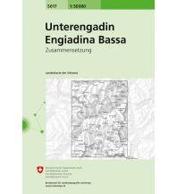 Wanderkarten Tirol Landeskarte der Schweiz 5017, Unterengadin/Engiadina Bassa 1:50.000 Bundesamt für Landestopographie
