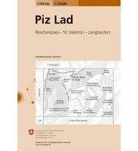 Wanderkarten Südtirol & Dolomiten Landeskarte der Schweiz 1199bis, Piz Lad 1:25.000 Bundesamt für Landestopographie