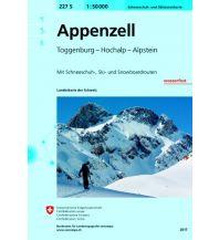 Skitourenkarten Landeskarte der Schweiz 227-S (Skitourenkarte), Appenzell 1:50.000 Bundesamt für Landestopographie