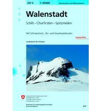 Skitourenkarten Landeskarte der Schweiz 237-S (Skitourenkarte), Walenstadt 1:50.000 Bundesamt für Landestopographie