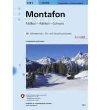 Skitourenkarten Landeskarte der Schweiz 238-S (Skitourenkarte), Montafon 1:50.000 Bundesamt für Landestopographie