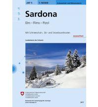 Skitourenkarten Landeskarte der Schweiz 247-S (Skitourenkarte), Sardona 1:50.000 Bundesamt für Landestopographie