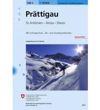 Skitourenkarten Landeskarte der Schweiz 248-S (Skitourenkarte), Prättigau 1:50.000 Bundesamt für Landestopographie