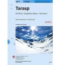 Skitourenkarten Landeskarte der Schweiz 249-S (Skitourenkarte), Tarasp 1:50.000 Bundesamt für Landestopographie