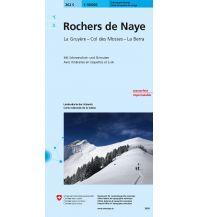 Skitourenkarten Landeskarte der Schweiz 262-S (Skitourenkarte), Rochers de Naye 1:50.000 Bundesamt für Landestopographie