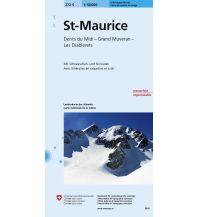Skitourenkarten Landeskarte der Schweiz 272-S (Skitourenkarte), St-Maurice 1:50.000 Bundesamt für Landestopographie