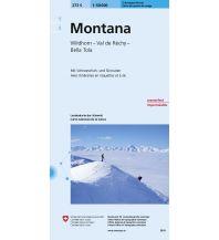 Skitourenkarten Landeskarte der Schweiz 273-S (Skitourenkarte), Montana 1:50.000 Bundesamt für Landestopographie