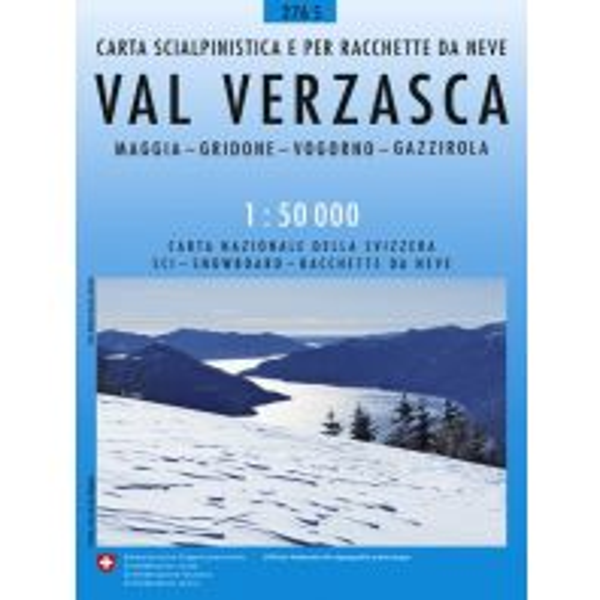Skitourenkarten Landeskarte der Schweiz 276-S (Skitourenkarte), Val Verzasca 1:50.000 Bundesamt für Landestopographie